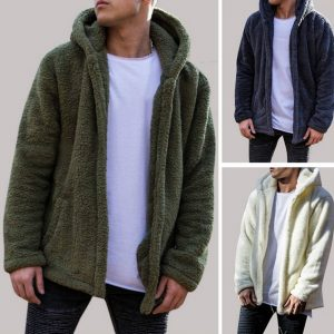 Trendy Warm Plush Men Hoodies