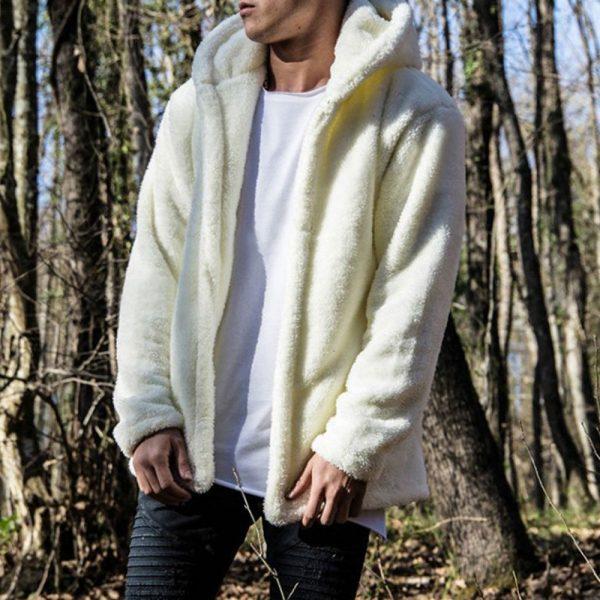 Trendy Warm Plush Men Hoodies