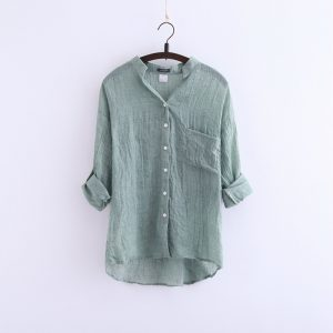 Light And Breathable Sun Resistant Linen Shirt